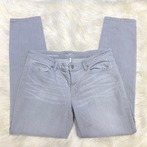 Loft Light Gray Modern Skinny Jeans 31/12